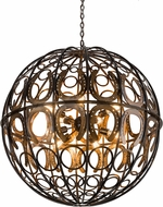 Meyda Tiffany 175727 Equestriana Modern Dark Burnished Copper Pendant Light Fixture