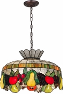 Meyda Tiffany 175747 Fruit Tiffany Pendant Lighting Fixture