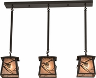 Meyda Tiffany 175752 Whispering Pines Timeless Bronze / Silver Mica Multi Hanging Pendant Lighting