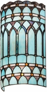 Meyda Tiffany 175759 Aello Tiffany Blue Wall Lighting Fixture
