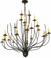 Meyda Tiffany 176032 Sycamore Rustic Timeless Bronze Lighting Chandelier