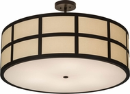 Meyda Tiffany 176230 Cilindro Barnabas Timeless Bronze Flush Lighting