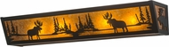 Meyda Tiffany 176495 Moose at Lake Country Black / Amber Mica Bath Sconce