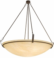 Meyda Tiffany 176679 Covina Contemporary Cafe Noir / Honey Onyx Acrylic Ceiling Light Pendant