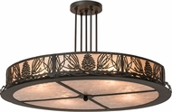 Meyda Tiffany 177220 Mountain Pine Rustic Silver Mica Flush Ceiling Light Fixture