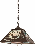 Meyda Tiffany 177230 Deer at Dawn Country Cafe Noir Pendant Lighting Fixture