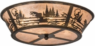 Meyda Tiffany 177246 Fly Fishing Creek Rustic Silver Mica Home Ceiling Lighting