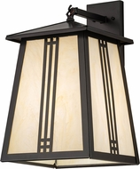 Meyda Tiffany 177914 Prairie Loft Exterior Oil Rubbed Bronze Bleached Honey Onyx Acrylic Wall Sconce Lighting