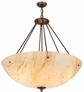 Meyda Tiffany 178063 Madison Contemporary China Mahogany Bronze Ceiling Light Pendant