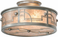 Meyda Tiffany 178159 Revival Deco Modern Nickel / Silver Mica Overhead Light Fixture