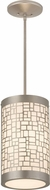 Meyda Tiffany 178222 Cilindro Mosaic Contemporary Nickel Mini Drum Pendant Light Fixture