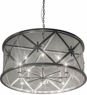 Meyda Tiffany 178340 Penelope Extreme Chrome Clear Acrylic Drum Hanging Lamp