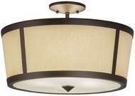 Meyda Tiffany 178360 Cilindro Tapered Mahogany Bronze Fluorescent Overhead Lighting Fixture