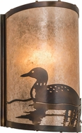 Meyda Tiffany 178371 Loon Country Dark Burnished Antique Copper Silver Mica Wall Lighting Fixture