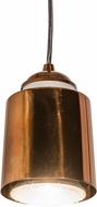 Meyda Tiffany 179053 Cilindro Dedal Modern Transparent Copper Mini Pendant Lighting Fixture