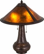 Meyda Tiffany 179568 Van Erp Amber Mica Lighting Table Lamp