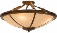 Meyda Tiffany 179573 Commerce Vintage Copper Sierra Taupe Acrylic Flush Lighting