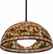 Meyda Tiffany 179681 Turning Leaf Tiffany Pendant Hanging Light