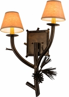 Meyda Tiffany 180106 Lone Pine Rustic Antique Copper Wall Sconce Lighting