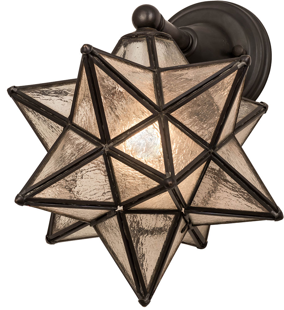 Elegant Meyda Tiffany 180419 Moravian Star Contemporary Clear Ripple Outdoor  Lighting Sconce. Loading Zoom