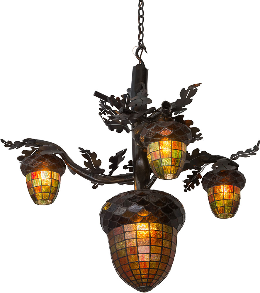 Meyda Tiffany 180444 Acorn Branch Rustic Dark Burnished Antique Copper  Chandelier Light. Loading zoom - Meyda Tiffany 180444 Acorn Branch Rustic Dark Burnished Antique