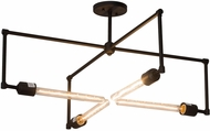 Meyda Tiffany 180896 Pronograde Contemporary Oil Rubbed Bronze Flush Mount Lighting Fixture