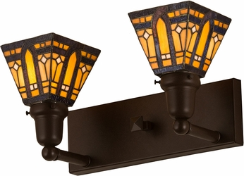 Meyda Tiffany 180978 Sierra Prairie Mission Tiffany Cafe Noir Bathroom Lighting Fixture