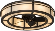 Meyda Tiffany 181177 Sargent Oil Rubbed Bronze Bleached Honey Onyx Acrylic Fan Light Fixture