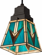 Meyda Tiffany 181346 Valencia Mission Tiffany Ebna Amber Beige Mini Hanging Light
