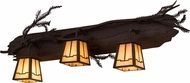 Meyda Tiffany 181549 Pine Branch Rustic Cafe Noir Halogen Vanity Lighting