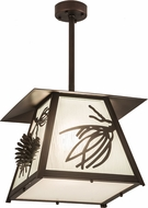 Meyda Tiffany 181563 Stillwater Scotch Pine Mahogany Bronze Hanging Pendant Lighting