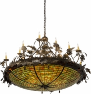 Meyda Tiffany 181600 Greenbriar Oak Antique Copper Pendant Lighting