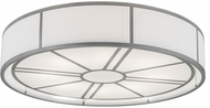 Meyda Tiffany 181898 Cilindro Milwaukee Nickel Flush Mount Ceiling Light Fixture