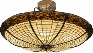 Meyda Tiffany 181915 Greenbriar Oak Tiffany Antique Copper Overhead Light Fixture