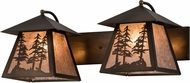Meyda Tiffany 182080 Tall Pines Antique Copper / Silver Mica Vanity Light