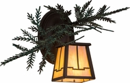 Meyda Tiffany 182275 Pine Branch Valley View Cafe Noir Halogen Lamp Sconce