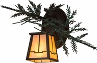 Meyda Tiffany 182277 Pine Branch Valley View Country Cafe Noir / Bai Green Needles Halogen Light Sconce
