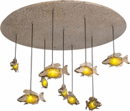 Meyda Tiffany 182290 Tiervis Modern LED Multi Pendant Light