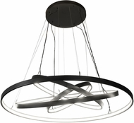 Meyda Tiffany 182716 Anillo Contemporary Solar Black LED Hanging Lamp