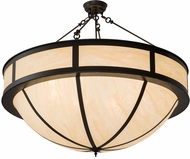 Meyda Tiffany 182794 Arco Timeless Bronze Carmel Onyx Acrylic Ceiling Light