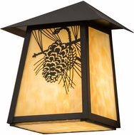 Meyda Tiffany 183239 Stillwater Winter Pine Beige Craftsman Lighting Wall Sconce