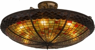 Meyda Tiffany 183250 Acorn Tiffany Antique Copper Ceiling Light Fixture