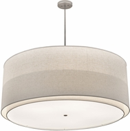 Meyda Tiffany 183263 Cilindro Textrene Off White / Statuario Nickel Drum Pendant Hanging Light