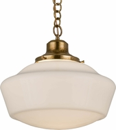 Meyda Tiffany 183317 Revival Schoolhouse White Hanging Light