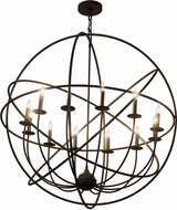 Meyda Tiffany 183432 Atom Enerjisi Contemporary Oil Rubbed Bronze Ceiling Chandelier