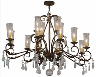 Meyda Tiffany 183446 Windsor Gilded Tobacco Hanging Chandelier