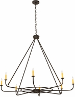Meyda Tiffany 183491 Brach Ring Wrought Iron Chandelier Light