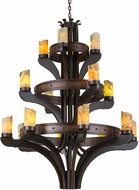 Meyda Tiffany 183607 Castilla Jadestone Mahogany Bronze Lighting Chandelier