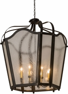 Meyda Tiffany 183674 Citadel Costello Black Outdoor Pendant Lighting Fixture