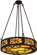 Meyda Tiffany 184312 Dean Mica Acrylic Drum Pendant Hanging Light